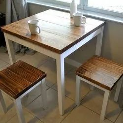 Soni Art Exports Cafe Wooden Chair And Table