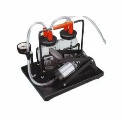 Suction unit foot operated