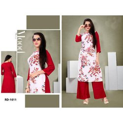 Stylish Rayon Digital Printed Kurti