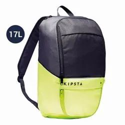 Kipsta Carbon Grey and Neon Yellow 17L Classic Sports Backpack