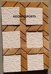 Teakwood and mint Mosaic tile
