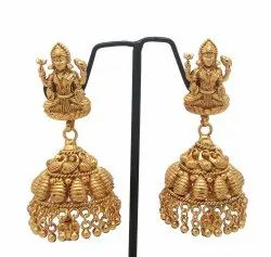 Gold Plated Golden New Design Forming Jhumka Earring