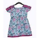 Casual Wear Printed Kids Blue Top