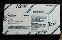White Multi Fold Towel 1222A In Case, Box, Pulls: 150