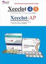 Aceclofenac 100mg Paracetamol 325mg Thiocolchicoside 4mg