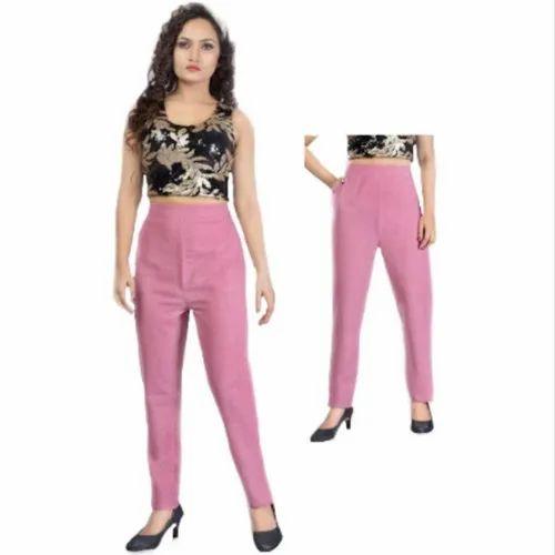 Pants Regular Fit Pant House Women Cotton Pant (XL, XXL_P-02)