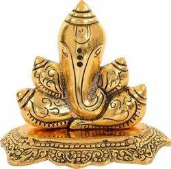 Bharat Handicrafts Gold Plated Shankh Ganesha
