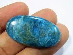 Rare Natural Neon Blue Apatite Semi Precious Stone Cabochon