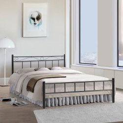 M R Steel Without Storage Double Bed