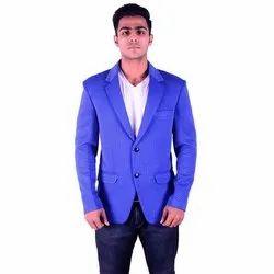 Regular Fit Sancy Polyester Mens Blue Plain Coat, Size: M-XL