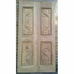 Design Teak Wood Door
