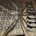 Banarasi Silk Banarasi Handloom Silk Sarees, With Blouse Piece