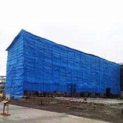 Polyethylene (HDPE) LDPE Coated Construction Tarpaulin, Thickness: 100 Gsm