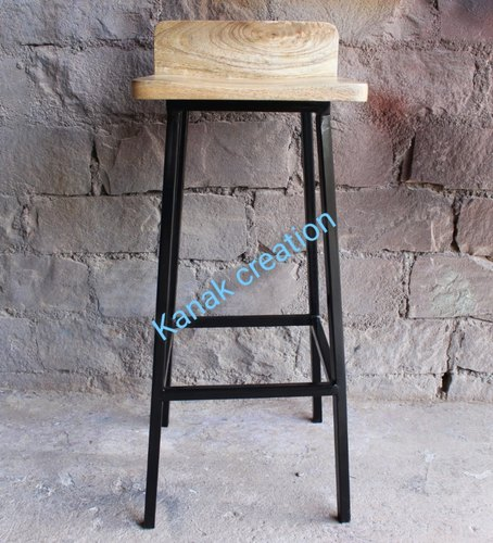 Wood Top Metal Bar Stools