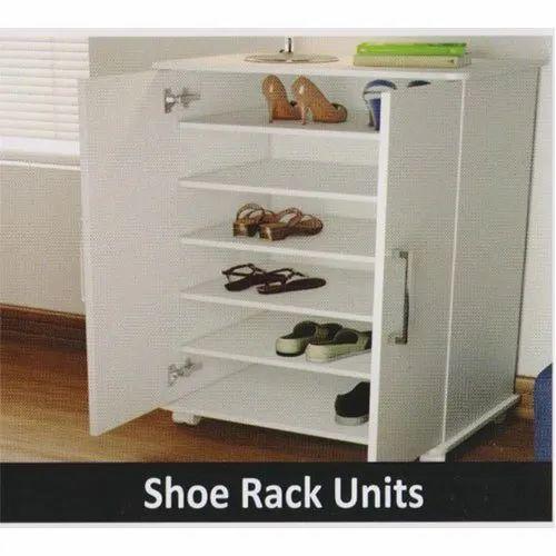 White Wooden Shoe Rack Unit Rs 650 Square Feet Ad Doors Modular