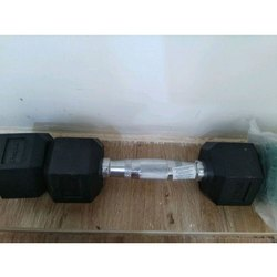 PROPEL FITNESS Rubber Hexagonal Dumbbel, For Gym, Weight: 5KG