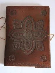 Vintage Embossed Designer Handmade Leather Journal