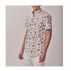 Cotton Collar Neck Men Printed Half Sleeve Shirt, Hand Wash, Machine Wash
