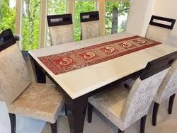 Coffee Halloween Gold Brocade Table Runners