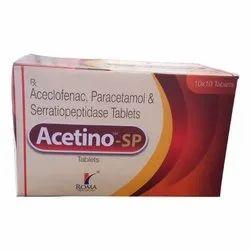 Acelofenac 100mg,Paracetamol 325mg,Serratiopeptidase 15mg