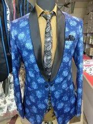 Regular Fit Cotton Men's Party Wear Blazers
