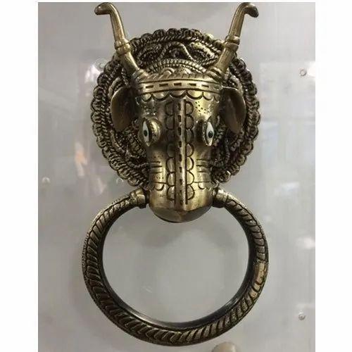 Brass Animal Figure Engraved Antique Door Knocker Size 8 Inch Rs 800 Piece Id 19198657433