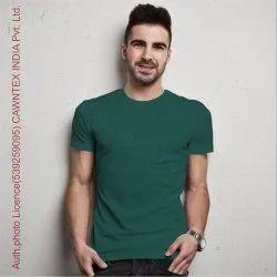 Cotton Half Sleeve Premium Quality Mens Plain Tshirt, Size: S M L XL XXL
