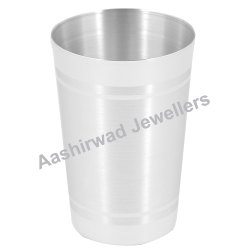 Aashirwad Silver Plain Glass with BIS Hallmarking
