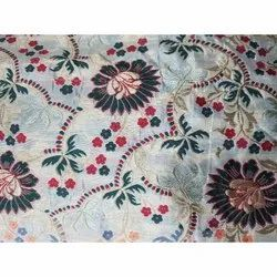 Embroidered Jacquard Fabric