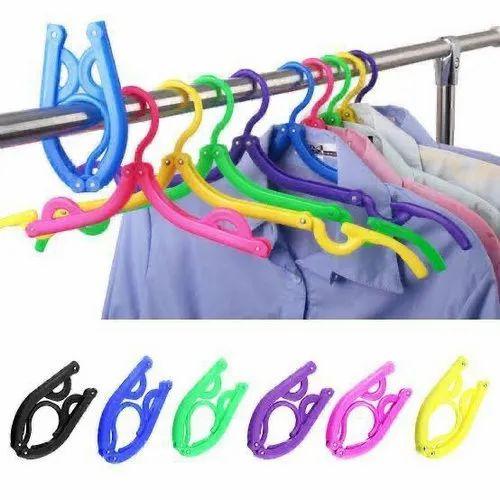 Folding Travel Hanger (Set Of 5) for Travel & Household, Rs 110 /set   ID:  22084232888
