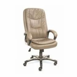 Cream Color Leather President Chair, Model Name/Number: P-Cs 9