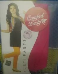 Ankle Length Straight Fit Comfort Lady Pants, Size: XL, XXL