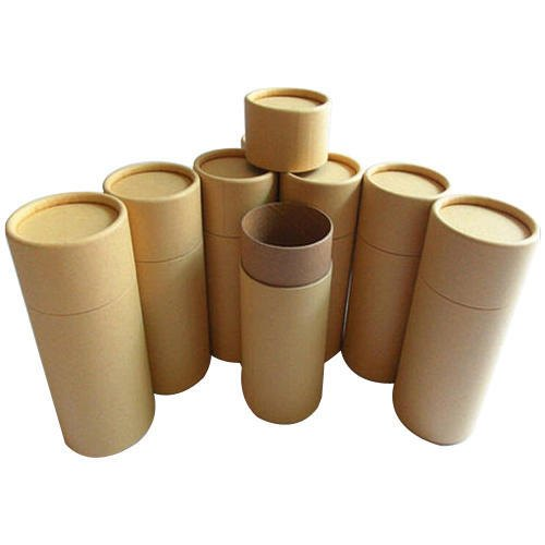 Brown Plain Composite Paper Tube Container, Rs 42 /kg Maa Shiv ...