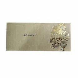 Printed Kraft Paper Wedding Envelope, Thickness: 1 - 4 Mm, Packaging Type: Packet