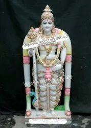 White Marble Lord Murugan Statue
