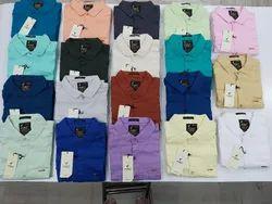 Full Sleeves Slim Fit F20 Plain Twill Slub Shirts