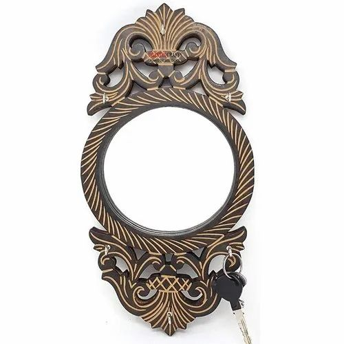 Wooden Beautiful Decorative Carved Wall Mirror For Living