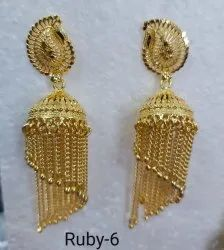 Ruby Golden Latkaniya Earrings