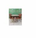 Stainless Steel Table with Chair