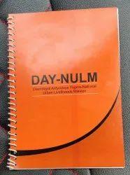 Spiral ORANGE Day-Nulm Notebook, Paper Size: A5