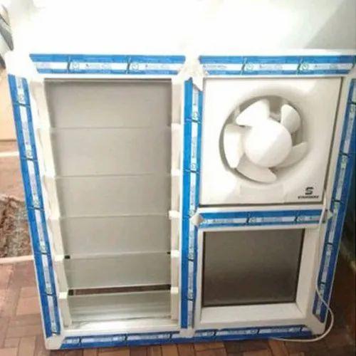 UPVC Ventilator Window, For Bathroom, Rs 340 /square feet ...