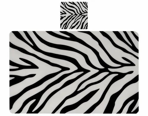 Winner Black And White Zebra Print Table Placemats Set Of 6 Table Mats 6 Coasters At Rs 199 Piece Placemats Id 20672745448