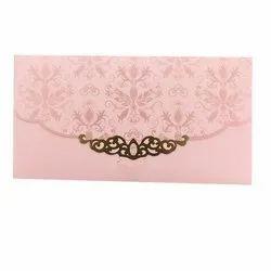 Pink Wedding Card Paper Envelope, Rectangular