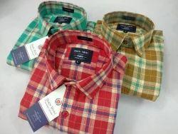Cotton Twill Checks Shirt For Men