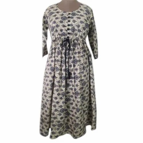 Cotton Casual Fancy Printed Maxi Dress