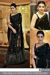 Fancy Georget Embroidery Sarees