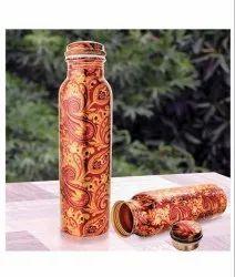 Copper Digital Printed Water Bottle, Capacity: 1 Ltr, Screw