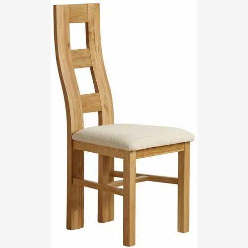 Light Brown Modern Hardwood Dining Chair