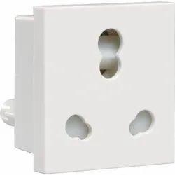 Electric White Anchor Penta Twin Socket, 240 v Ac