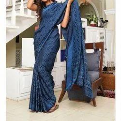 Party Wear Printed Ladies Brasso Silk Saree, 5.2 m (separate blouse piece)